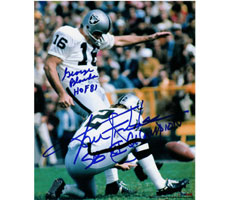 George Blanda and Ken Stabler Oakland Raiders 8x10 Autograph Photo #277