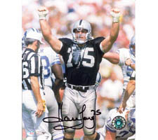 Howie Long Oakland Raiders 16x20 #1043 Autographed Photo