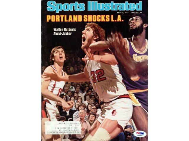 Bill Walton Autographed Magazine Cover Trail Blazers PSA/DNA #S46886