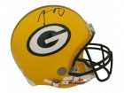 Aaron Rodgers Autographed Green Bay Packers Proline Helmet JSA