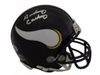 Anthony Carter Autographed Minnesota Vikings TB Mini Helmet in Silver BAS