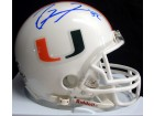 Ray Lewis Autographed Miami Hurricanes Mini Helmet PSA/DNA Stock #28859