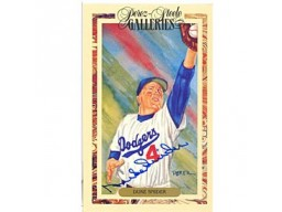 Duke Snider Autographed / Signed 3x5 Perez Steele Card