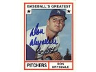 Don Drysdale Dodgers 1982 Topps Baseball's Greatest Pitchers Card #14