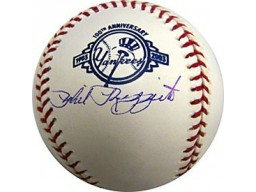 Phil Rizzuto Autographed / Signed Yankees 100th Anniversary Baseball