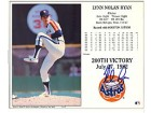 Nolan Ryan Autographed / Signed 200th Victory Card
