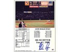 Nolan Ryan Autographed / Signed 6th No Hitter Card