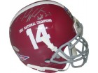 Dre Kirkpatrick signed Alabama Crimson Tide Authentic Schutt Mini Helmet 2011 National Champs #14 Logo- Kirkpatrick Hologram