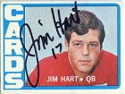 Jim Hart Autographed/Signed 1972 Topps Card