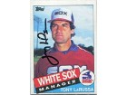 Tony LaRussa Autographed/Signed 1985 Topps Card