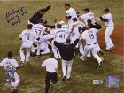 Matt Garza ALCS Celebration Autographed / Signed 8x10 Photo MLB Authenticated