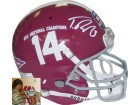 Trent Richardson signed Alabama Crimson Tide Full Size Authentic #14 BCS National Champs Logo Schutt Helmet