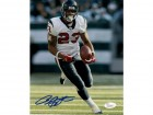 Arian Foster Autographed Houston Texans 8x10 Photo JSA (solo white jersey)