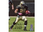 Mark Ingram signed New Orleans Saints 8x10 Photo #28 (Black Jersey run)- Ingram Hologram