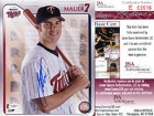 Joe Mauer Autographed / Signed Baseball 8x10 Photo (JSA)