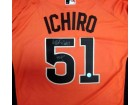 "2007 All-Star Ichiro Suzuki Autographed Orange Majestic Jersey ""MVP"" Size L IS Holo Stock #18663"