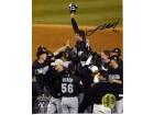Josh Beckett Autographed 2003 World Championship Florida Marlins 8x10 Photo