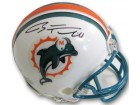 Ryan Tannehill signed Miami Dolphins Riddell TB (old logo) Mini Helmet (teal face mask black sig)- Tannehill Holo