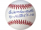 Bill Monbouquette No Hitter 8-1-62 Autographed / Signed Baseball