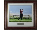Tiger Woods 2000 U.S. Open PGA at Pebble Beach 16X20 Photo Custom Leather Framing