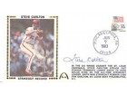 Steve Carlton Autographed / Signed Strikeout Record First Day Cover