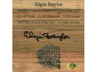 Elgin Baylor signed Hall of Fame Floor Board 6x6 (Los Angeles Lakers)