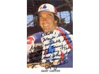 Gary Carter Autographed / Signed Postcard