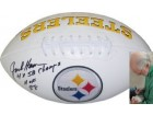 Jack Ham signed Pittsburgh Steelers Logo Football HOF 88 & 4 X SB Champs