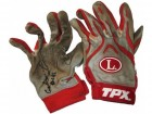 Carlos Santana Autographed / Signed Cleveland Indians 2009 Game Used Red/Grey Batting Gloves