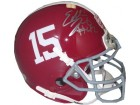 Eddie Lacy signed Alabama Crimson Tide 2012 National Championship BCS Logo Schutt Authentic Mini Helmet- Lacy Hologram
