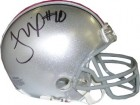 Troy Smith signed Ohio State Buckeyes Replica Mini Helmet (Heisman)