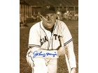 Johnny Mize Autographed / Signed Kneeling with Bat 8x10 Photo