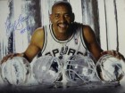 George Gervin signed San Antonio Spurs ICE 16X20 Photo HOF 96