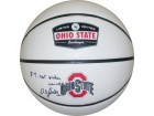 Deshaun Thomas signed Ohio State Buckeyes Rawlings Logo Basketball 3 Times Big Ten Champs (black sig)