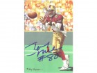 Jerry Rice Autographed San Francisco 49ers Goal Line Art Card in blue