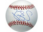 Darryl Strawberry signed Official Major League Baseball (New York Mets & Yankees) (Leaf)