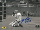 Y.A. Tittle signed New York Giants Blood Sepia Horizontal 8X10 Photo HOF 71