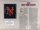 1934 New York Giants Patch on a Commemorative Card