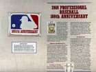 1969 Professional Baseball 100th Anniversary Patch on a Commemorative Card