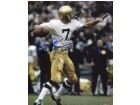 Joe Theismann signed Notre Dame Fighting Irish 8X10 Photo Go Irish Inscribed