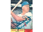 Duke Snider Autographed / Signed L.A. Dodgers Baseball Card
