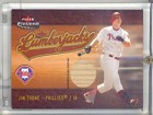 Jim Thome Lumberjacks Card with Piece of Baseball Bat Unsigned