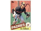 Tim Flannery Autographed / Signed 1985 Topps #182 Card - San Diego Padres