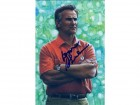 Don Shula Autographed Miami Dolphins Goal Line Art Card Blue N/O