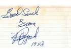 Rudy York Autographed / Signed Baseball 3x5 Card