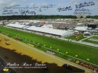 Pleasant Colony signed Preakness Stakes Winners Pimlico Race Course Horse Racing 16x20 Photo w/ 6 Sig