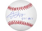 Frank Thomas signed Official Major League Baseball 521 HR's (Chicago White Sox/Toronto Blue Jays) (HOF14) (Leaf)