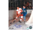 Gordie Howe signed Detroit Redwings 8x10 Photo HOF 72 vs Toronto Maple Leafs