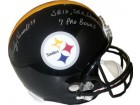 Andy Russell signed Pittsburgh Steelers Full Size Replica Helmet SB IX, SB X Champs & 7 Pro Bowls