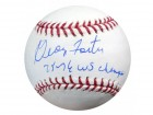 "George Foster Autographed Official MLB Baseball Cincinnati Reds ""75-76 WS Champs"" PSA/DNA Stock #28141"